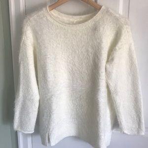 Cozy white textured sweater